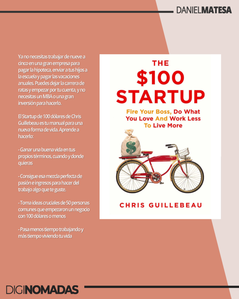 libros para nómadas digitales: $100 Startups