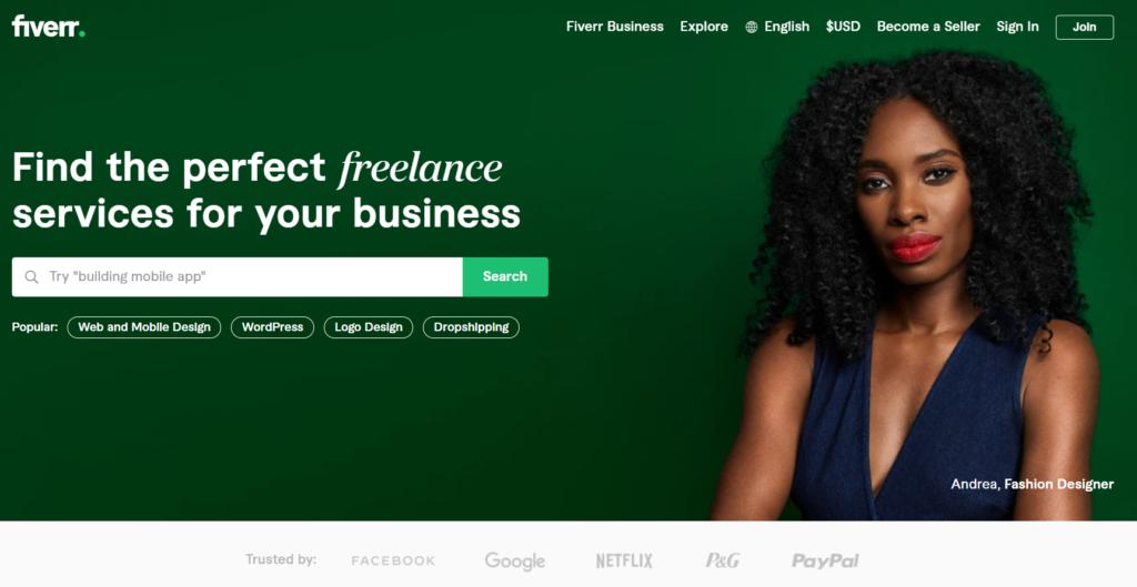 Fiverr - conseguir trabajo remoto
