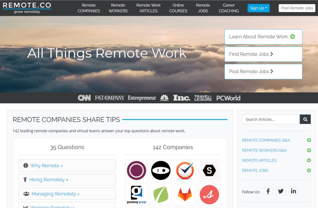 remote.co - sitios para conseguir trabajo remoto