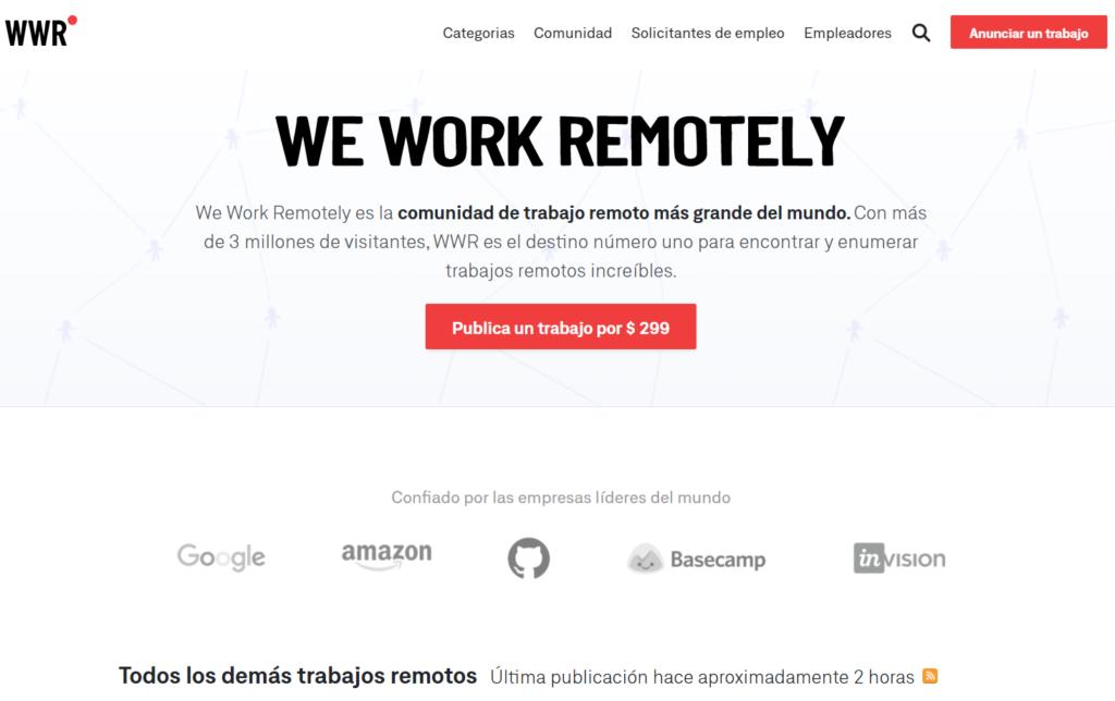 we work remotly - buscar teletrabajo