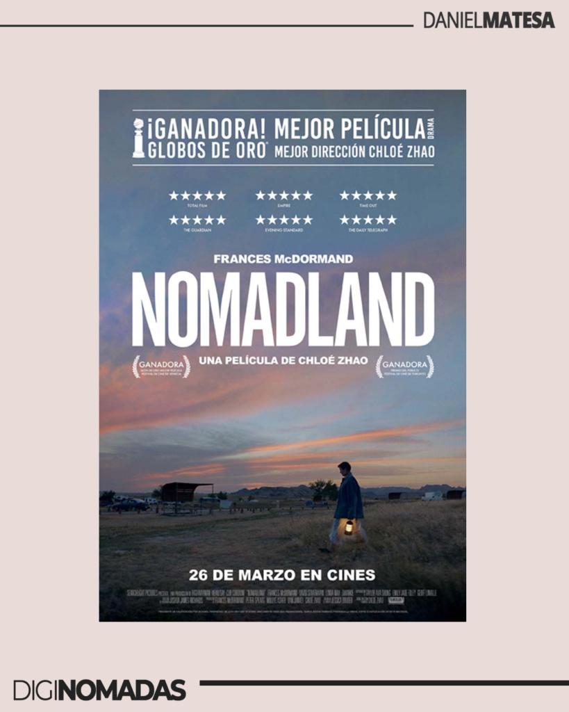 Nomadland - película viajera ganadora del oscar's 2021
