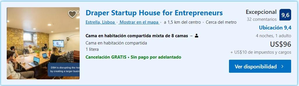 Draper startup House Lisboa hostels