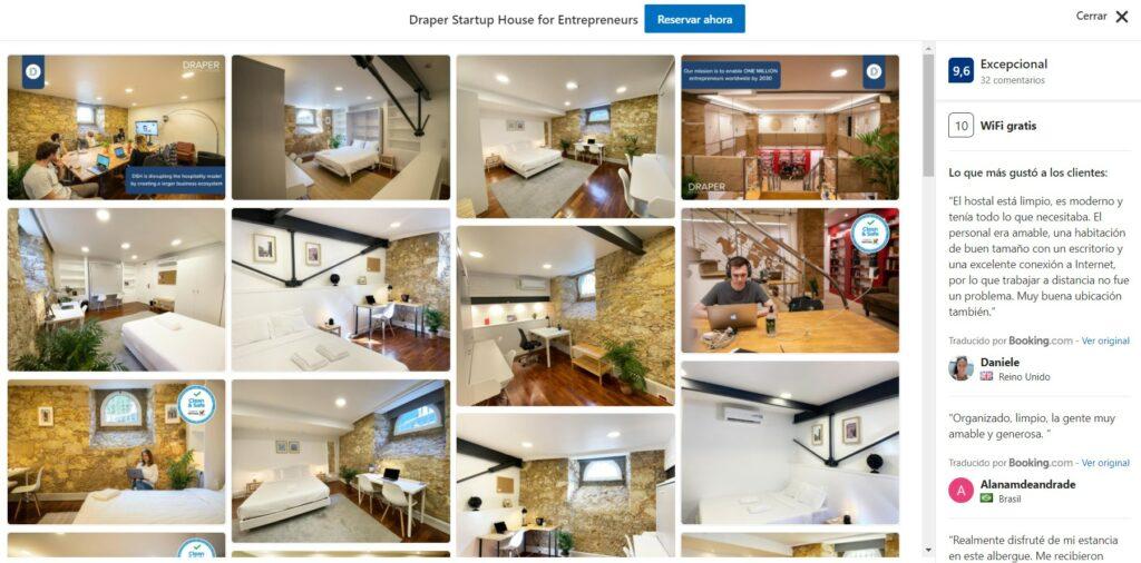 Draper startup House hostels Portugal