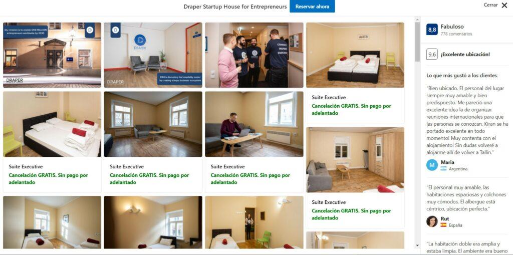 Draper startup House hostels Tallin Estonia