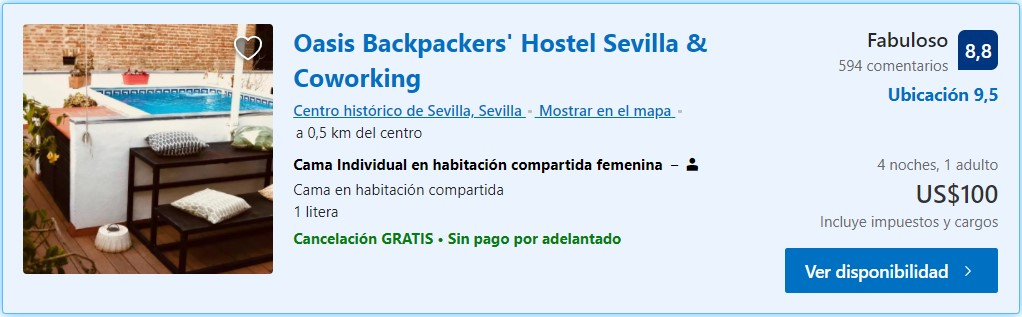 Oasis Backpackers Hostel Sevilla
