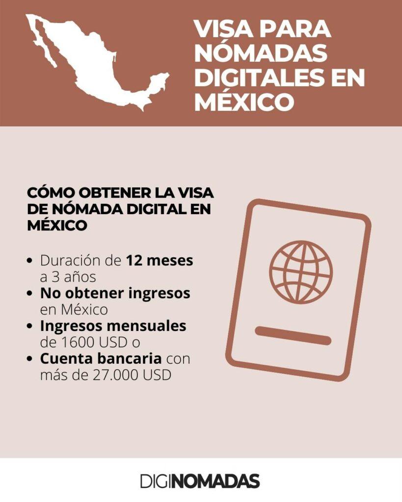 trabajar en remoto desde México   Visa de nómada digital