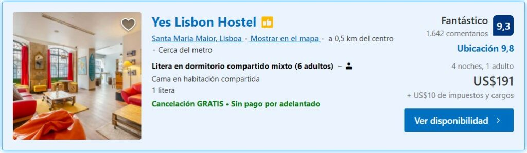 Yes Lisbon Hostels Portugal