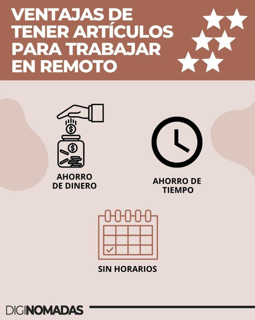 VENTAJAS DE LOS ARTÍCULOS ESENCIALES PARA TRABAJO REMOTO